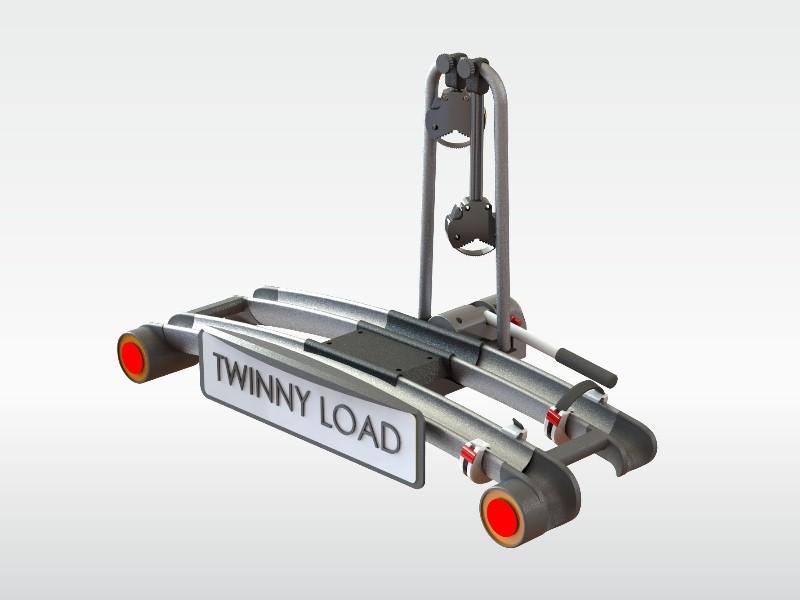 Strak design van de Twinny Load fietsendrager