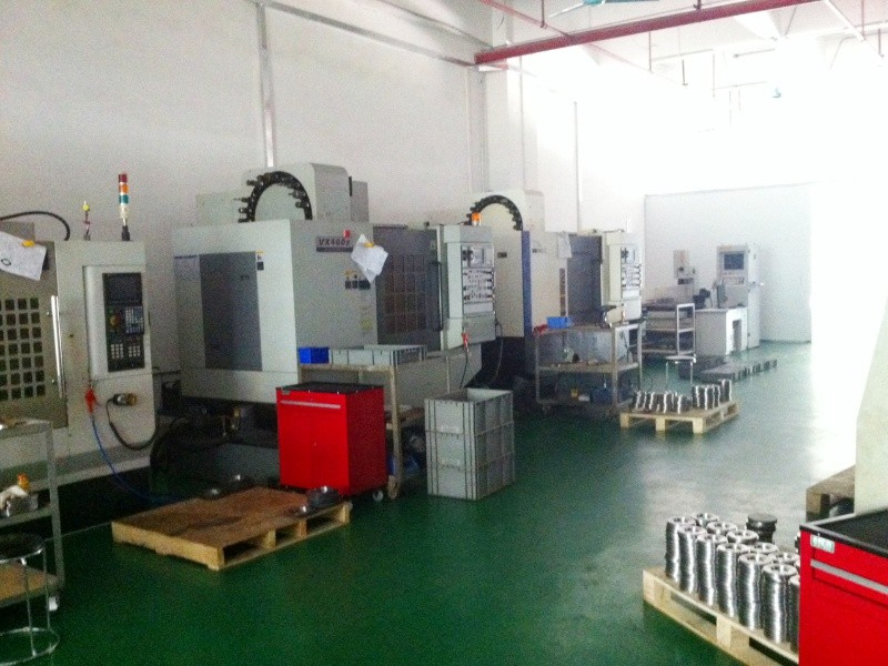 De CNC machines in onze fabriek in China