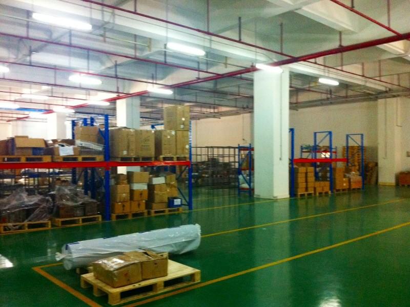 Het magazijn in onze fabriek in China