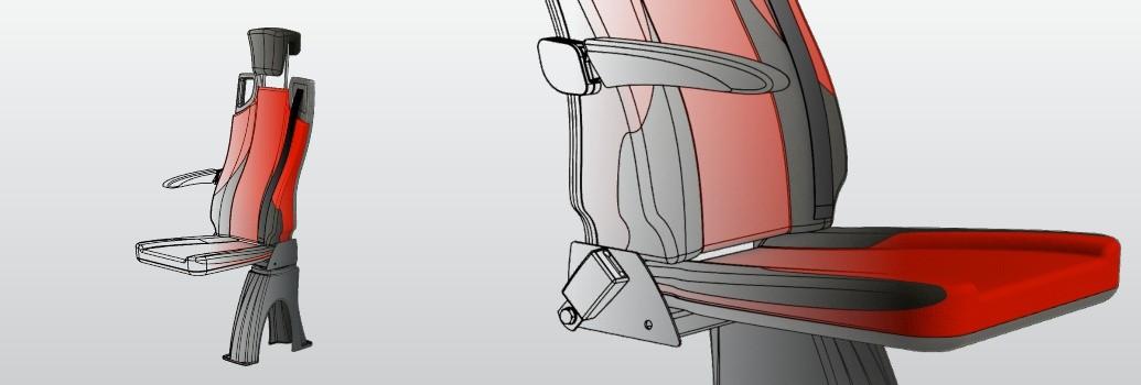 Design Tribus stoel voor taxibus