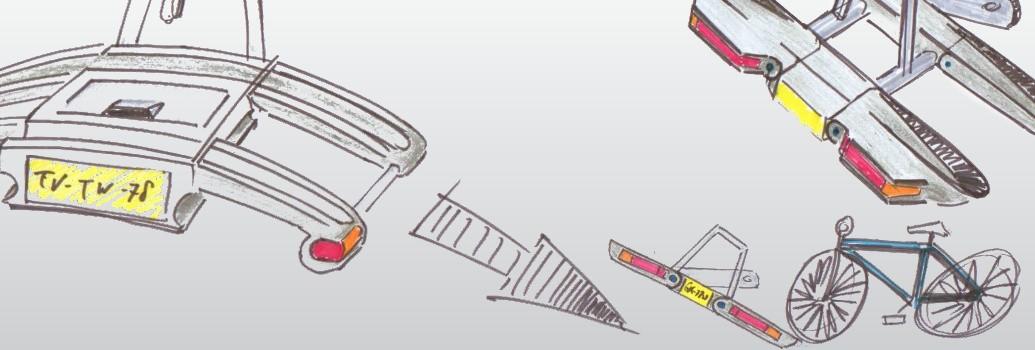 Productschetsen van de Twinnyload fietsendrager