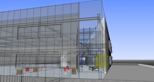 Het nieuwe pand van Rokatec in 3D