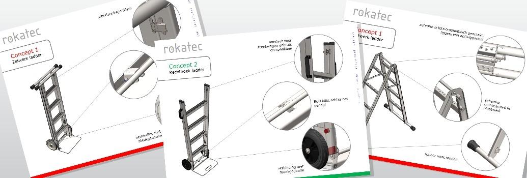 Productontwikkeling van de Scalamix Steekwagen en ladder in een
