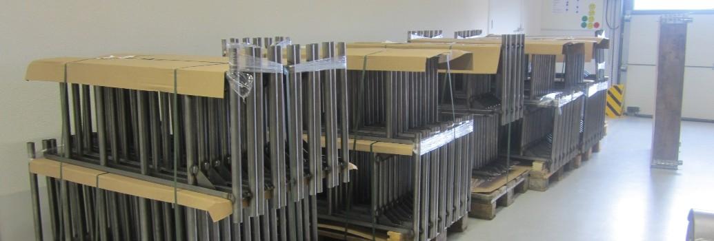 Halffabricaten van de Scalamix Steekwagen en ladder in een