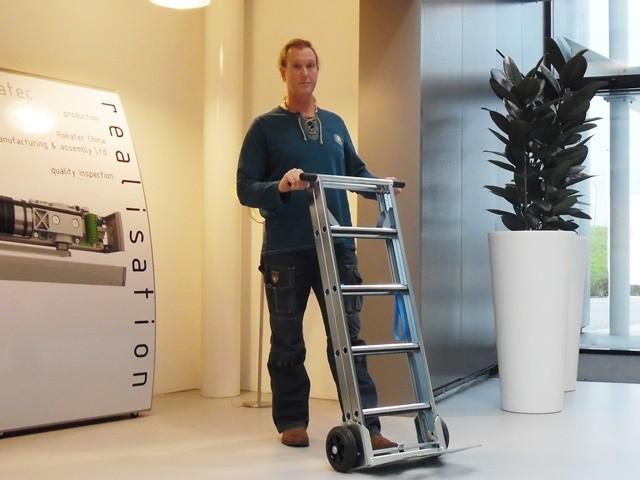 De productie van de Scalamix Steekwagen en ladder in een