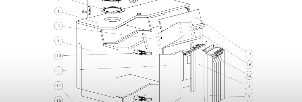Technische tekening van de Entermed Futurent 3