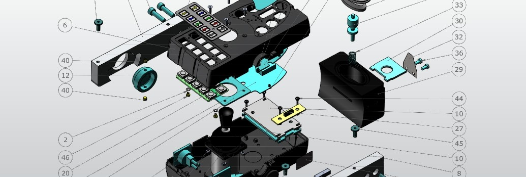 Het ontwerp van dee Permobil rolstoeljoystick
