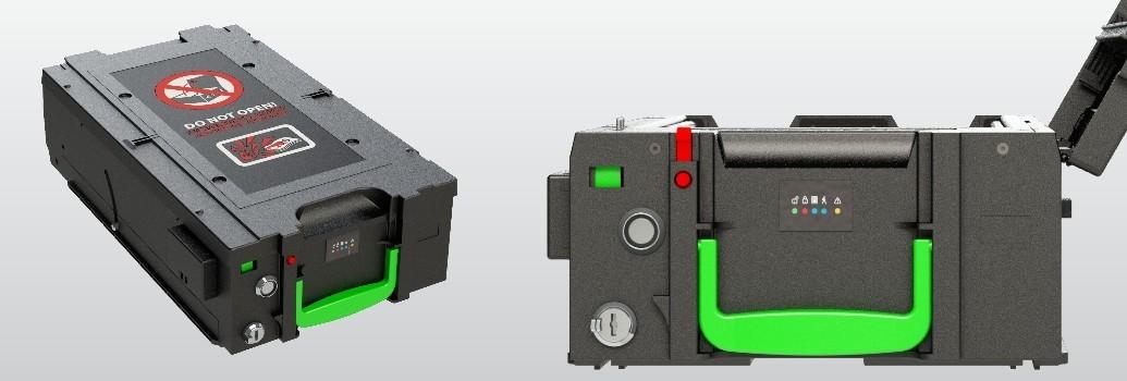 Beveiliging van een Wincor geldcassette tegen plofkraken