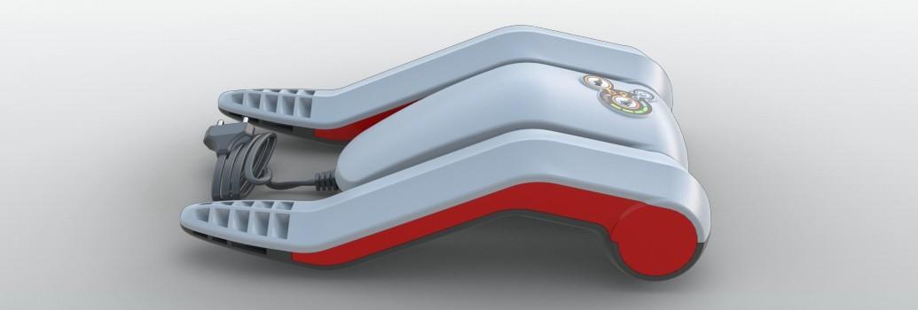 De Go4Dry schoenerdroger kan eenvoudig ingeklapt worden