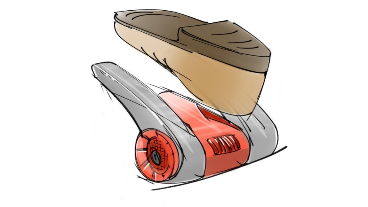 De eerste schets van de Go4Dry schoenerdroger